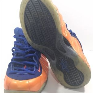 93d6260c42f usa nike shoes nike air foamposite one knicks blue orange newyork 44b89  b14c6